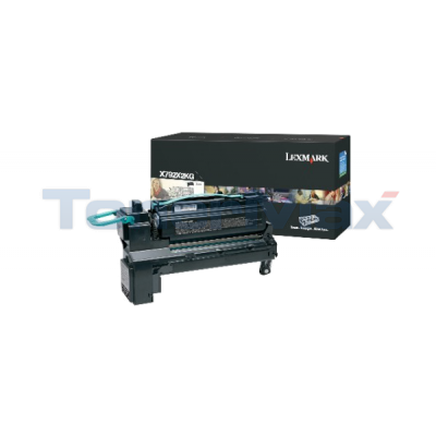LEXMARK X792 PRINT CARTRIDGE BLACK 20K